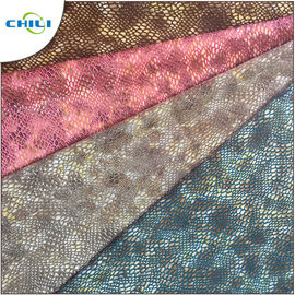 Flexible Faux Vinyl Fabric , Quilted Pleather Fabric Stretch Imitation Patterned