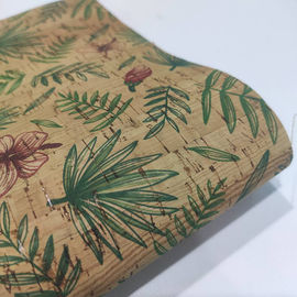"Anti Abrasion Floral 52"" 1.2mm Printed Cork Fabric"