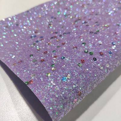 New Coming Shiny Metallic Colorful Round Sequin Leather Glitter Fabric Decoration For Shoes Bags