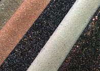 Grade 3 Pu Synthetic Glitter Fabric Wallpaper Shiny Single Side Precut Dark