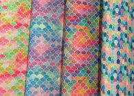 Colorful Printed Faux Leather Fabric SGS Certified 0.6±0.1mm Thickness supplier