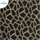 "Flocked Glitter Leather Fabric 1.0mm Thickness 54/55"" Width Abrasion Resistant supplier"