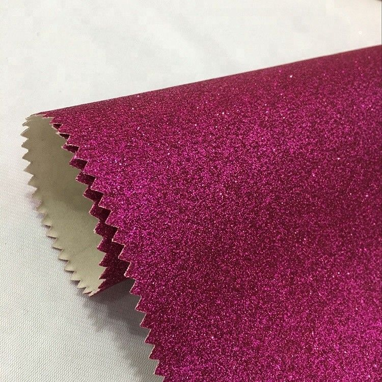 Anti Mildew Glitter Leather Fabric 137cm*10m Per Roll Decorative Purpose supplier