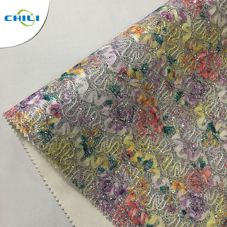 Seamlessly Printed Faux Leather Fabric , Stretch Faux Leather Fabric Composite Material supplier
