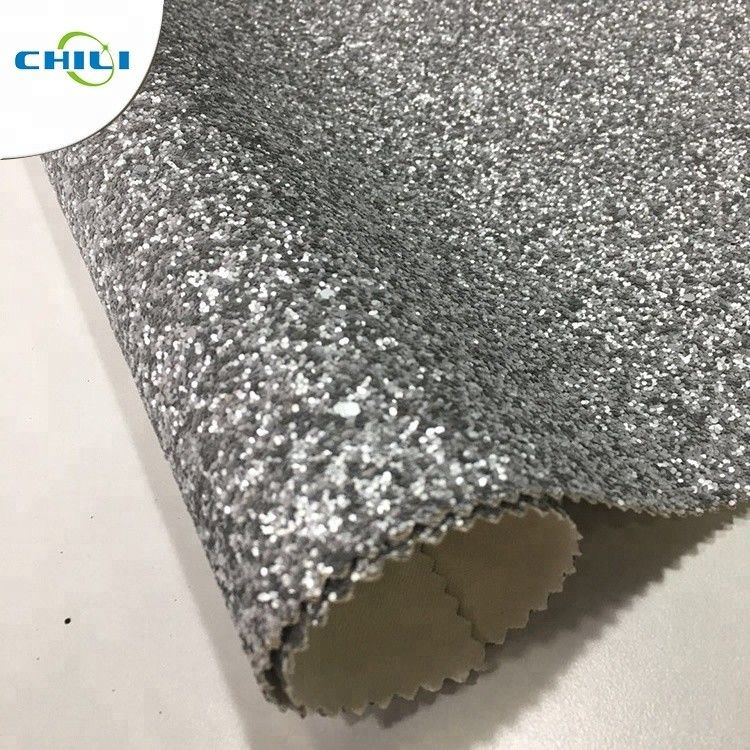 Non Woven Glitter Wall Fabric , Chunky Glitter Wallpaper Decorative Application