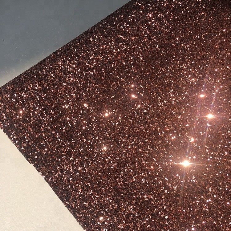 PU Gold Glitter Wallpaper For Walls 0.9±0.15mm Thickness Non Woven Backing supplier