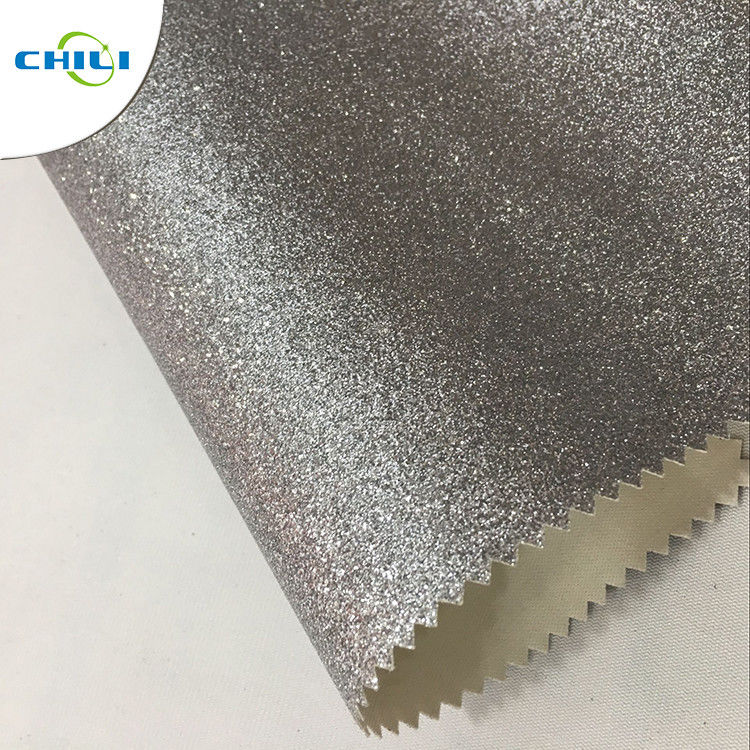 OEM ODM Glitter Fabric Paint , White Glitter Fabric Colorful Wall Covering supplier