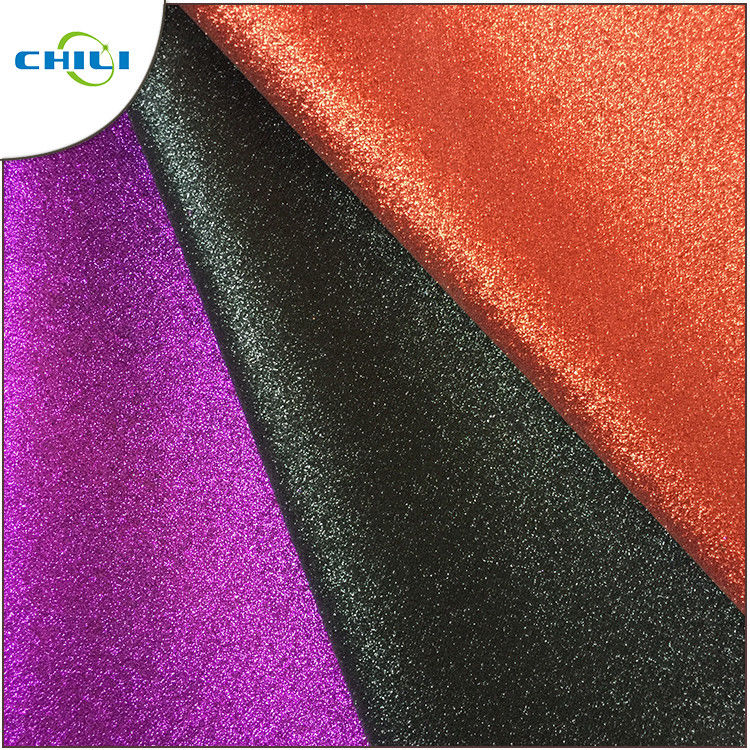 Garment Glitter Fabric Wallpaper Anti Mildew High Brightness Moisture Proof supplier