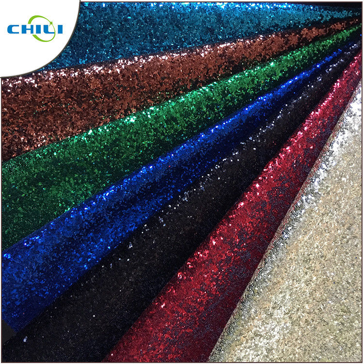 Garment Glitter Leather Fabric Customized Color Size Elegant For Handbags supplier