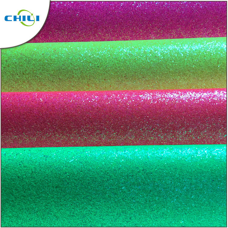 Shoe Lining Glitter Leather Fabric Long Durability 0.8 Pu 0.9±0.15mm Thick supplier