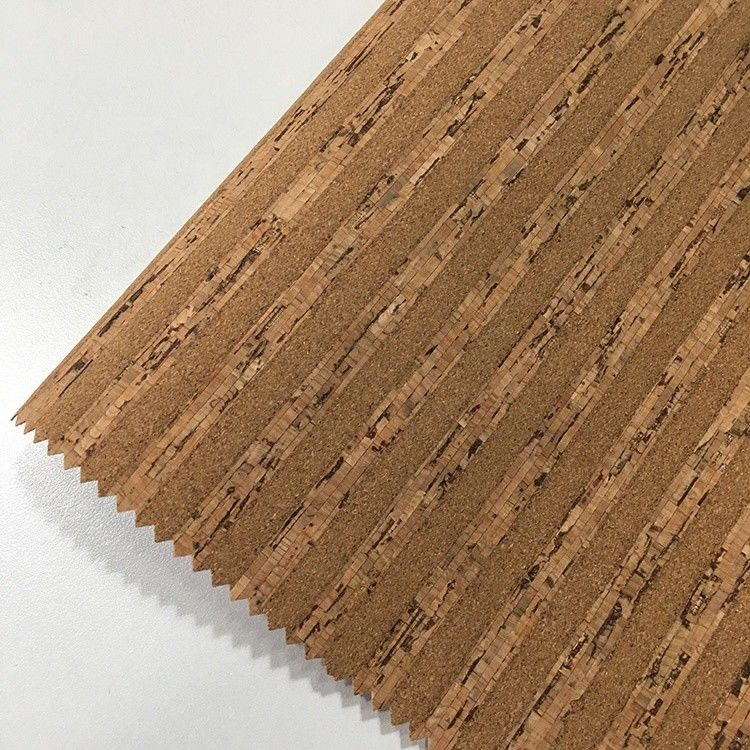 Home Textile Cork Leather Fabric Anti Scratch Soft Touching Commom Background Cloth supplier