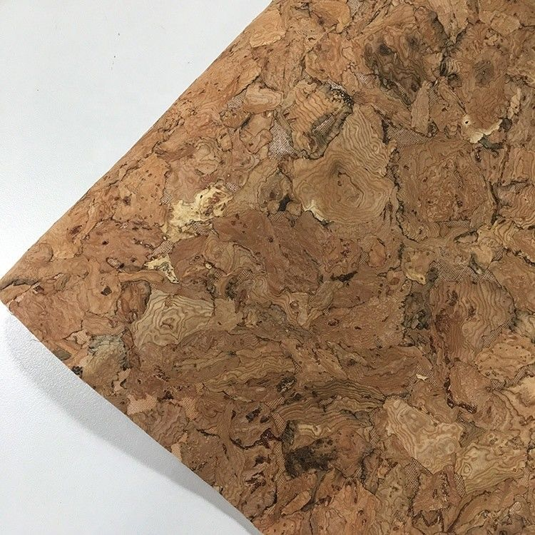 Flocked Feature Cork Leather Fabric Geometry Synthetic Various Backing Fabric supplier