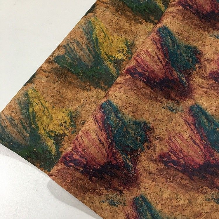 Hot Printed Patterned Leather Fabric High Density Micro Fiber Base For Bag supplier