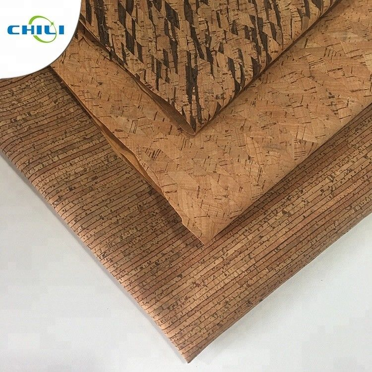 Wooden Pu Pvc Leather Fabric , Etsy Cork Fabric Abrasion Resistant Easy Cleaning supplier