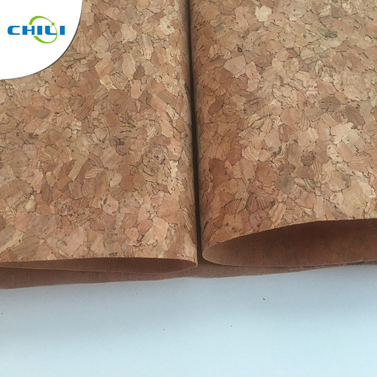 53'' Cork Leather Fabric Customized Color 0.4±0.05mm Thick For Shoes Application supplier