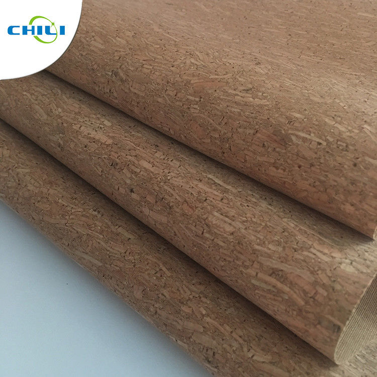 Women Shoes Cork Leather Fabric Knitted Fabric Backing Customized Color supplier