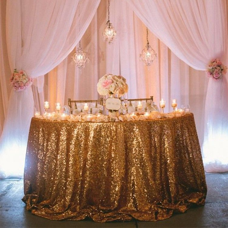 Handmade Sequin Tablecloth Wedding Commercial Romantic Nonwoven Eco Friendly supplier