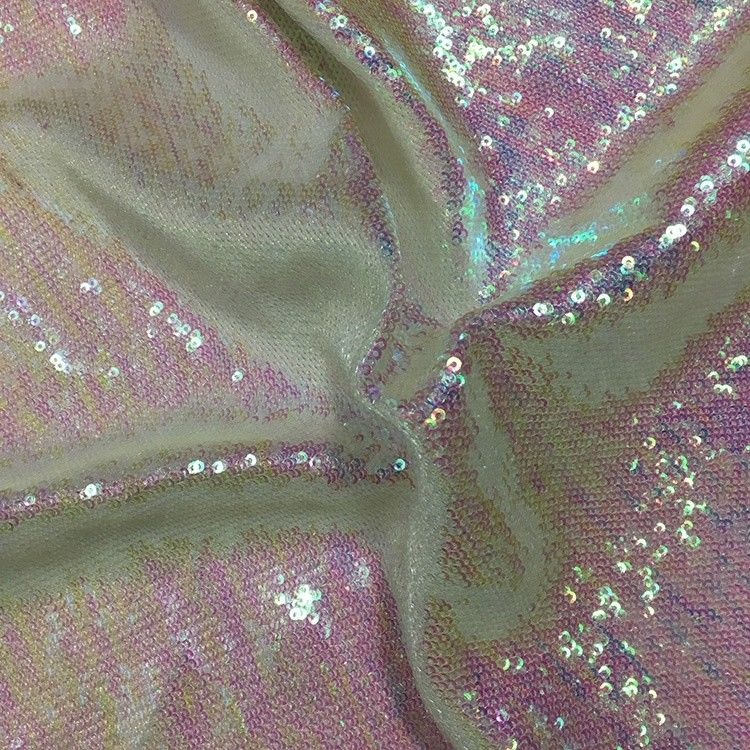 Comfortable Glitter Sequin Fabric Textured Upholstery PVC Vegan Thin Quilted supplier