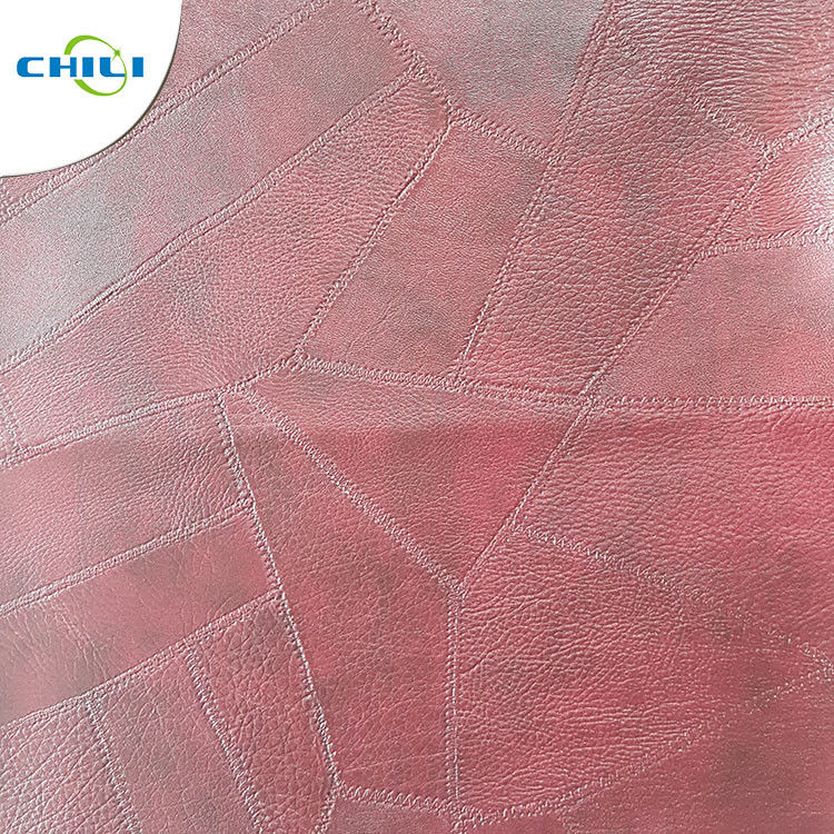 Furniture Sofa PVC Leather Fabric , PVC Upholstery Fabric Well Crafting supplier