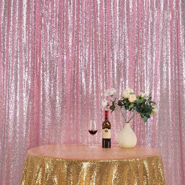 Polyester Material Shimmer Curtain Backdrop Accessories10ftx10ft Smooth supplier