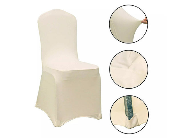 Light Color Chair Covers And Sashes Durable Smooth Soft Fine Workmanship